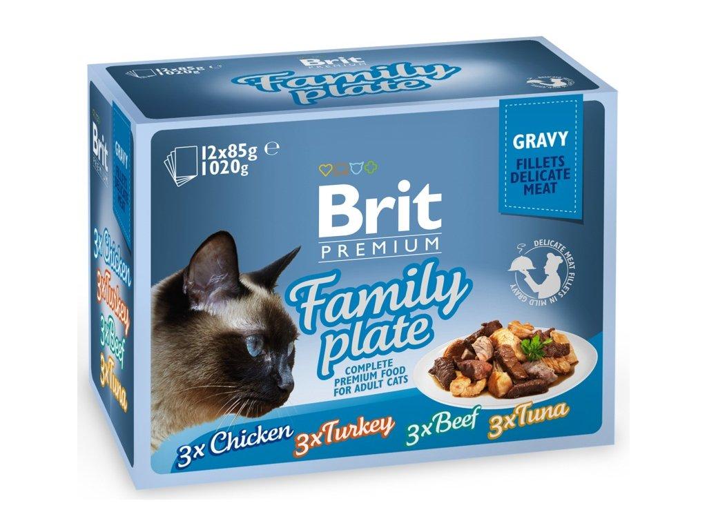 Brit Premium kapsička Gravy Family Plate 12 x 85 g