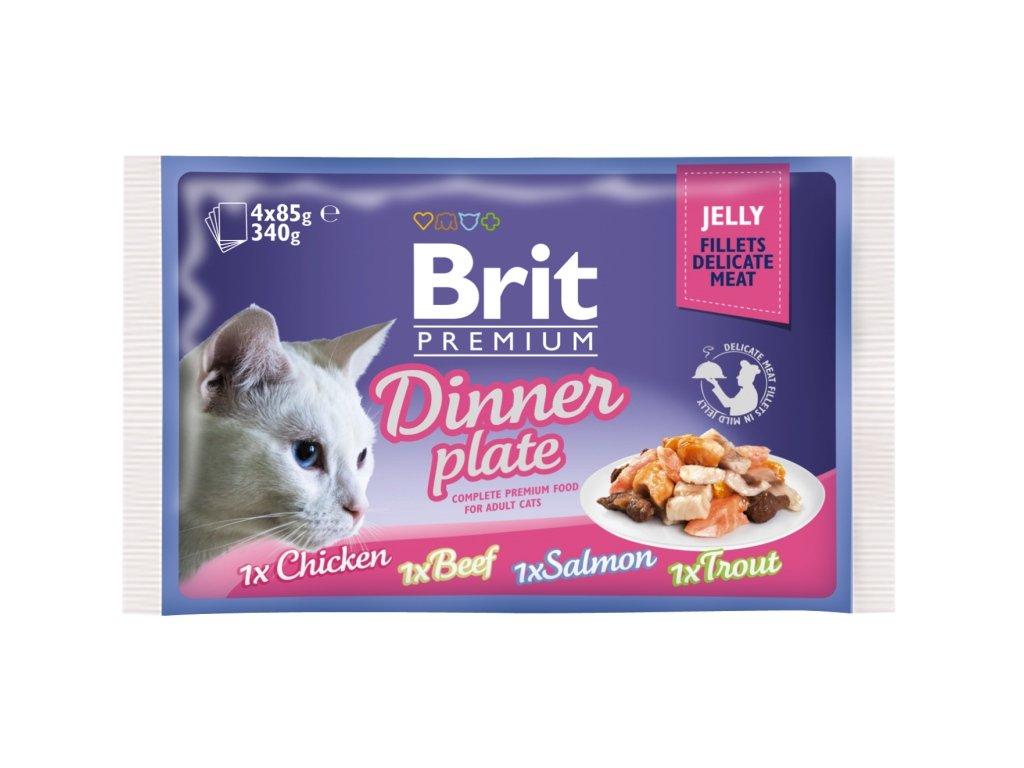 Brit Premium kapsička Jelly Dinner Plate 4 x 85 g