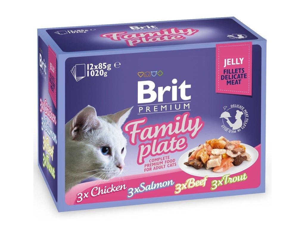 Brit Premium kapsička Jelly Family Plate 12 x 85 g