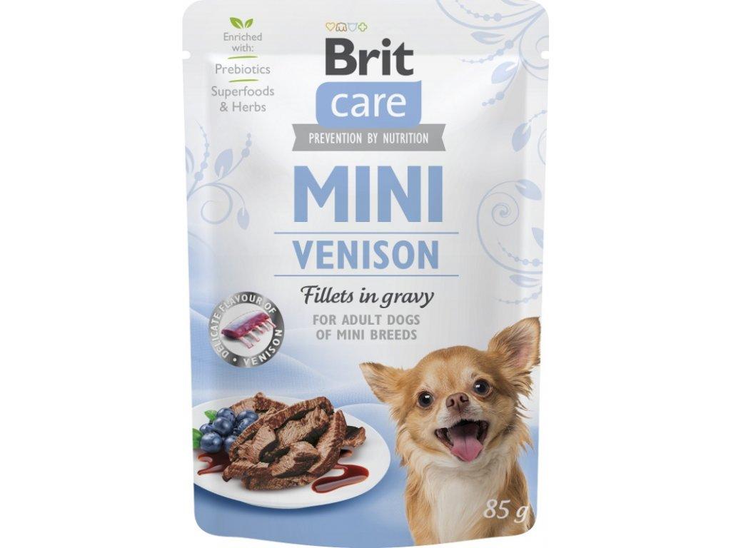 Brit Care Mini Dog kaps. Venison fillets in gravy 85 g