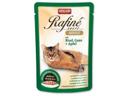 Animonda Rafine Soupe cat kaps. hovězí, husa, jablko 100 g