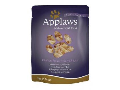 Applaws Cat kaps. kuřecí prsa a divoká rýže 70 g