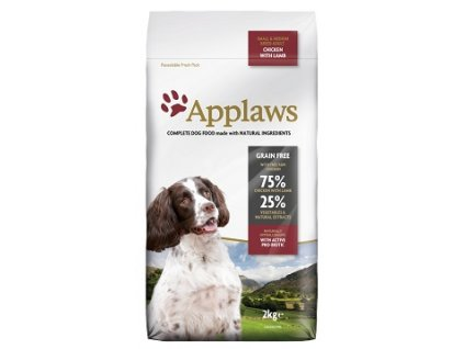 Applaws Dog Dry Adult S&M Breed Chicken & Lamb 2 kg