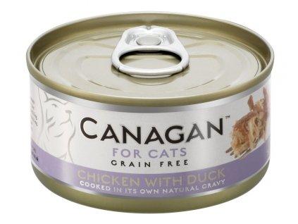 Canagan Cat konz. Kuře a kachna 75 g