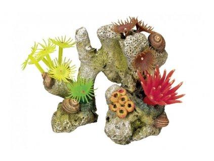 Dekorace do akvária Korál barevný Nobby 11 x 7 x 8,5 cm
