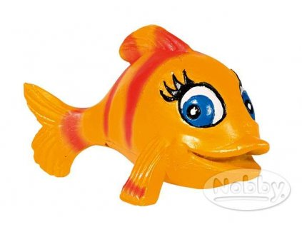 Dekorace do akvária Ryba oranžová Nobby 8 x 6 x 6 cm