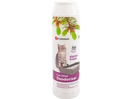 Deodorant do WC vůně zelených hor Flamingo 750 g