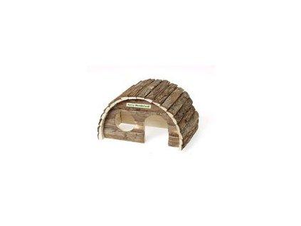 Domek dřevo morče obloukovitá střecha Karlie 24 x 15 x 16 cm