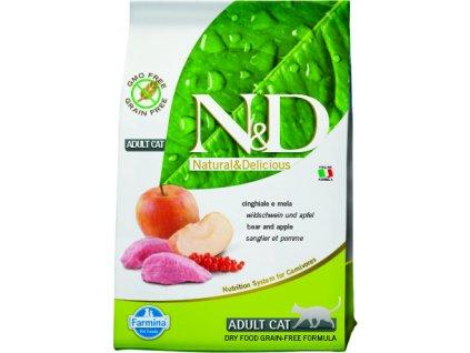 N&D Grain Free Cat Adult Boar & Apple 0,3 kg