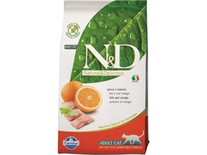 N&D Grain Free Cat Adult Fish & Orange 0,3 kg
