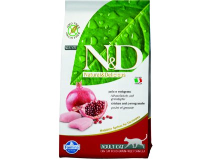 N&D Grain Free Cat Adult Chicken & Pomegranate 1,5 kg