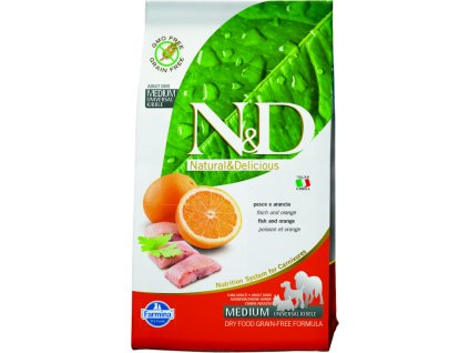 N&D Grain Free Adult Fish & Orange 12 kg