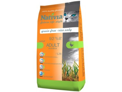 Nativia Cat Adult Hairball Duck&Rice 1,5 kg