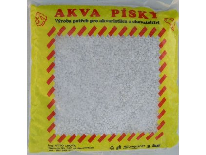 Písek akvarijní Akva č.11 bílý 3 kg 2 4 mm