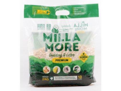 Podestýlka hlod. štěpky osika MillaMore Premium 10l 2kg