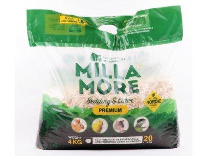Podestýlka hlod. štěpky osika MillaMore Premium 20l 4kg