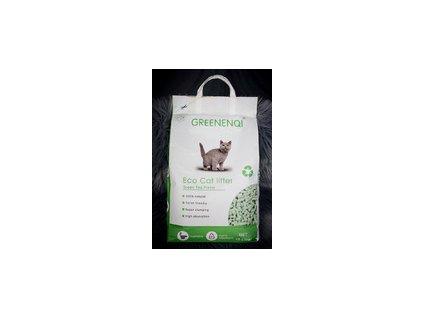 Podestýlka z tofu Greenenqi 10 litrů (4,5 kg) Zelený čaj