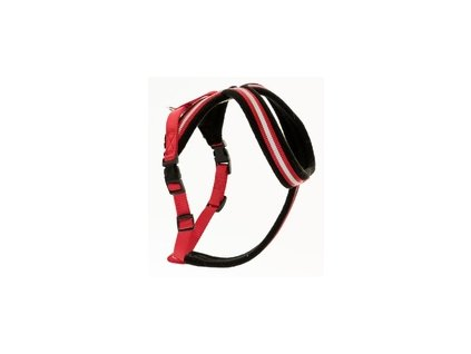 Postroj nylon Comfy červeno černý The Company 1 Toy
