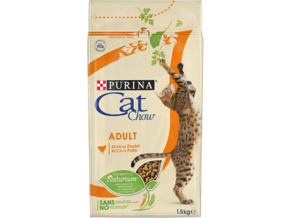 Purina Cat Chow Adult kuře a krůta 1,5 kg