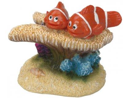 Dekorace do akvária Klauni na sasance 6x3,5x5cm Aqua Della