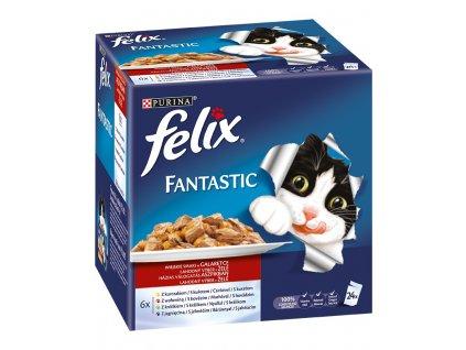 Felix Fantastic kapsička Multipack masový výběr v želé 24 x 100 g
