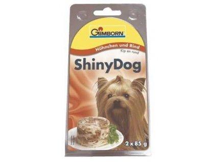 Gimborn Shiny dog konz. kuře, hovězí 2 x 85 g