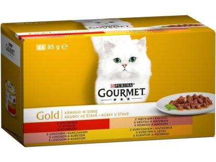 Gourmet Gold konzerva Multipack kousky ve šťávě 4 x 85 g