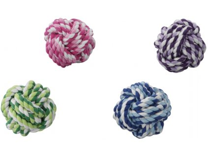 Hračka bavlna pletený míč O 11cm EBI