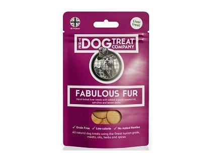 The Dog Treat Company játrové sušenky báječný kožich 50 g
