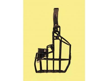 Náhubek kovový Bulteriér pes, gumoplast 105 x 145 x 100 mm