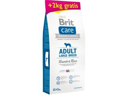 Brit Care Dog Adult Large Breed Lamb & Rice 12 kg + 2 kg zdarma