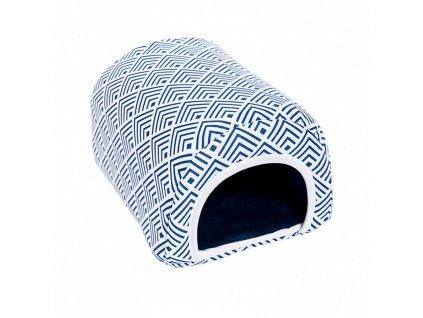 Samohýl Exclusive Domek oblouk pro dr. savce flís 20 × 27 × 17 cm M modrý