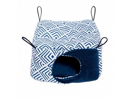 Samohýl Exclusive Závěsný domek pro dr. savce flís 18 × 18 × 11 cm M modrý