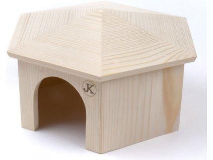 Domek dřevo králík jurta JK Animals 29 x 17 cm