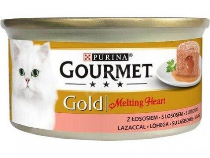 Gourmet Gold cat konz. Melting heart paštika losos 85 g