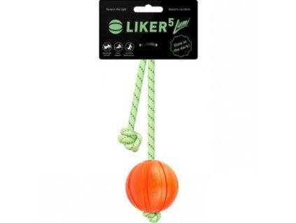 Hračka míč se svítí. a reflexním provazem Liker 5cm