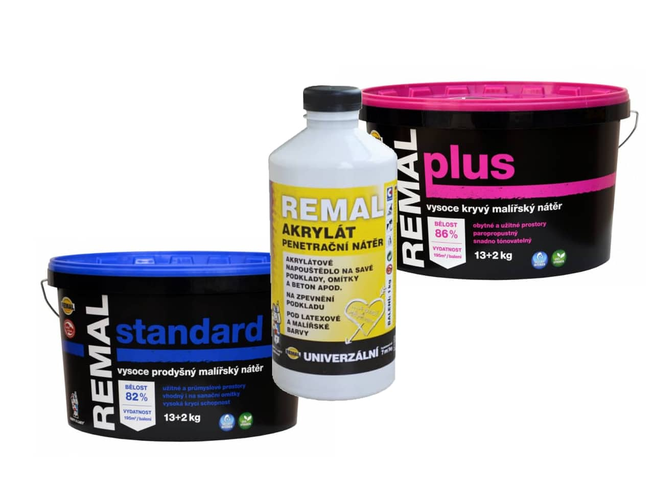 Penetrace ZDARMA k produktům REMAL standard a REMAL plus