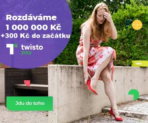 Twisto rozdává 1 000 000 korun - my Vám k tomu přidáme 300 Kč