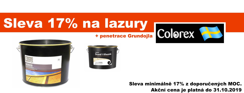 Sleva na lazury Colorex -17%