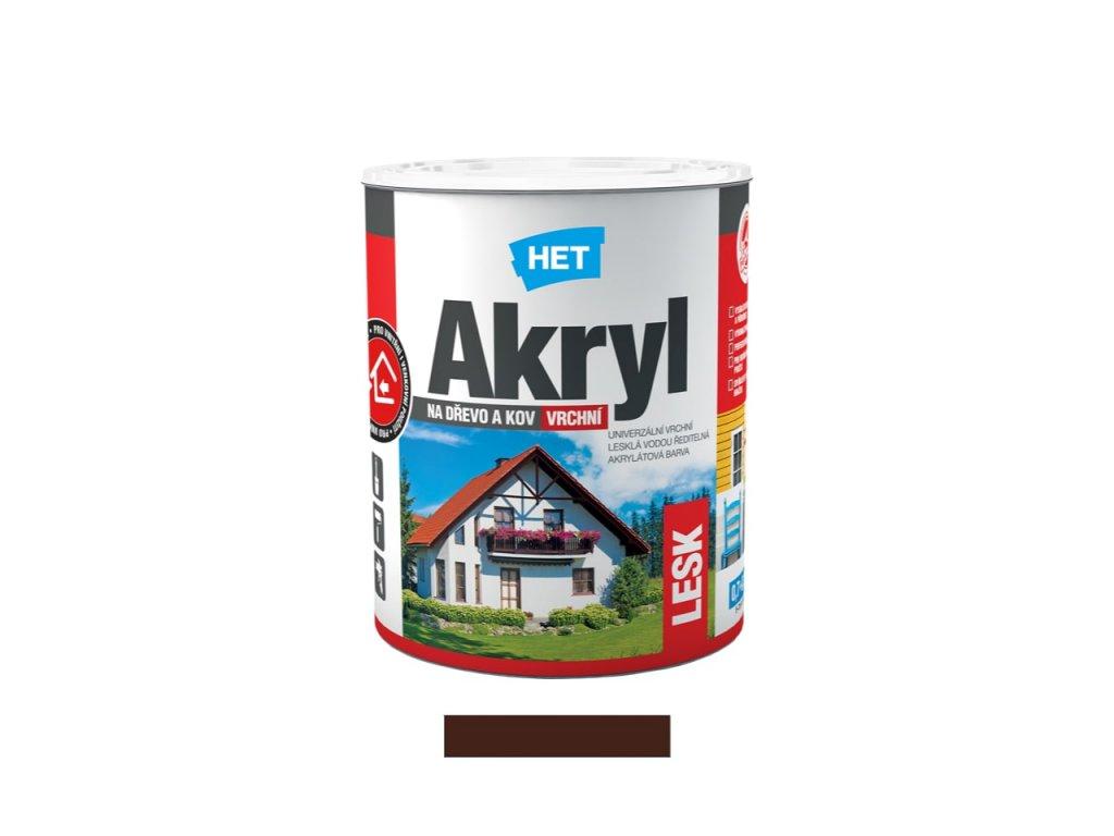 Het Akryl lesk - 0245 - tmavě hnědý