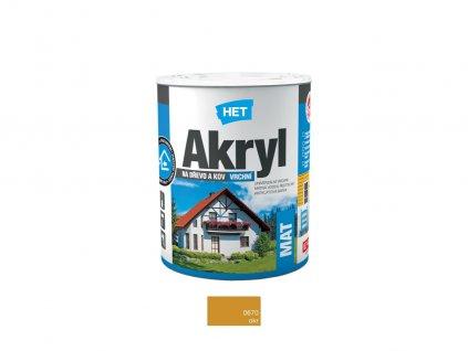 Het Akryl MAT 0670
