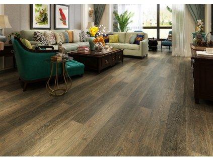 Dub hnědý - plovoucí vinylová podlaha