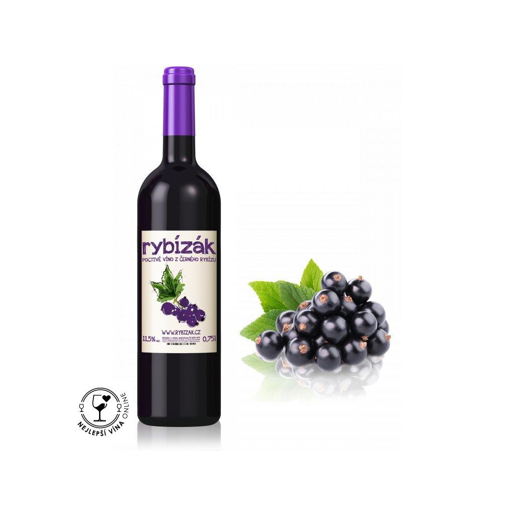 Rybízák, ovocné polosladké víno, 0,75l