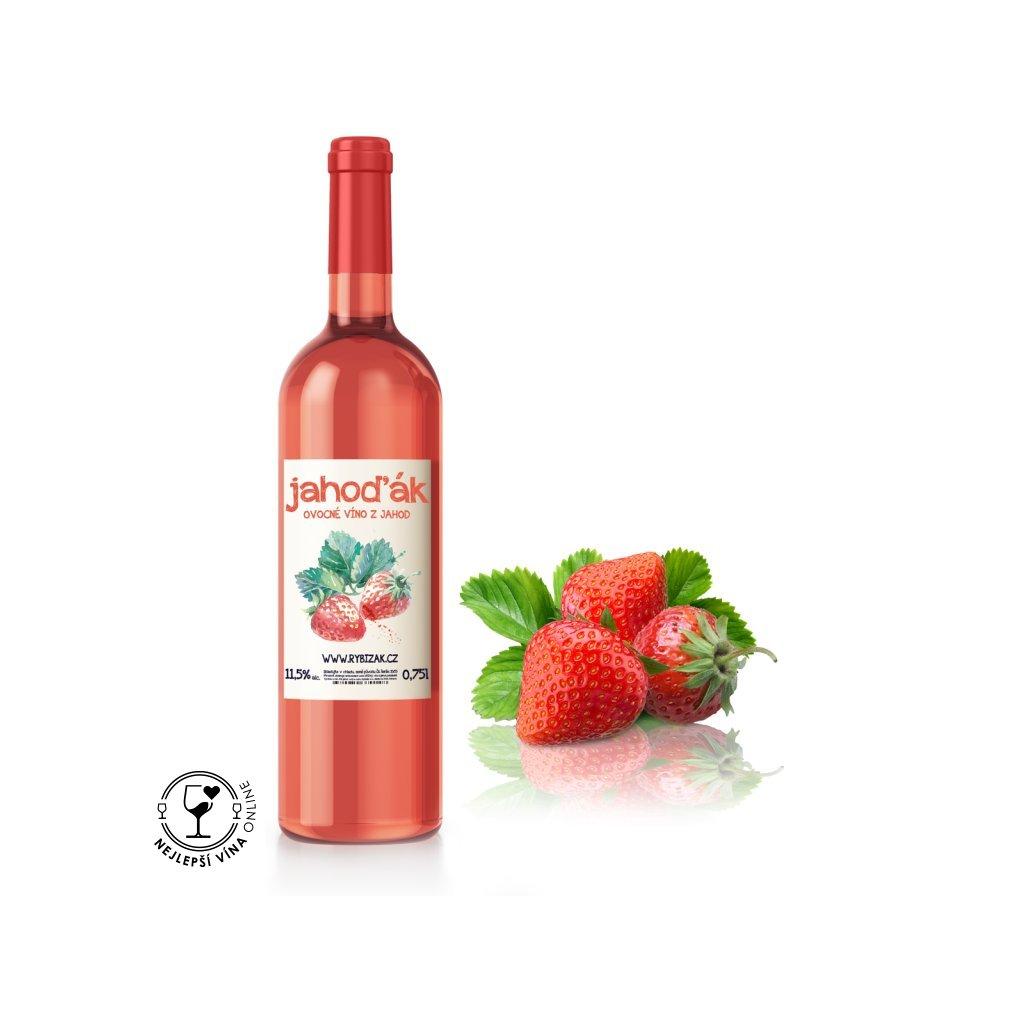 Jahoďák, ovocné polosladké víno, 0,75l