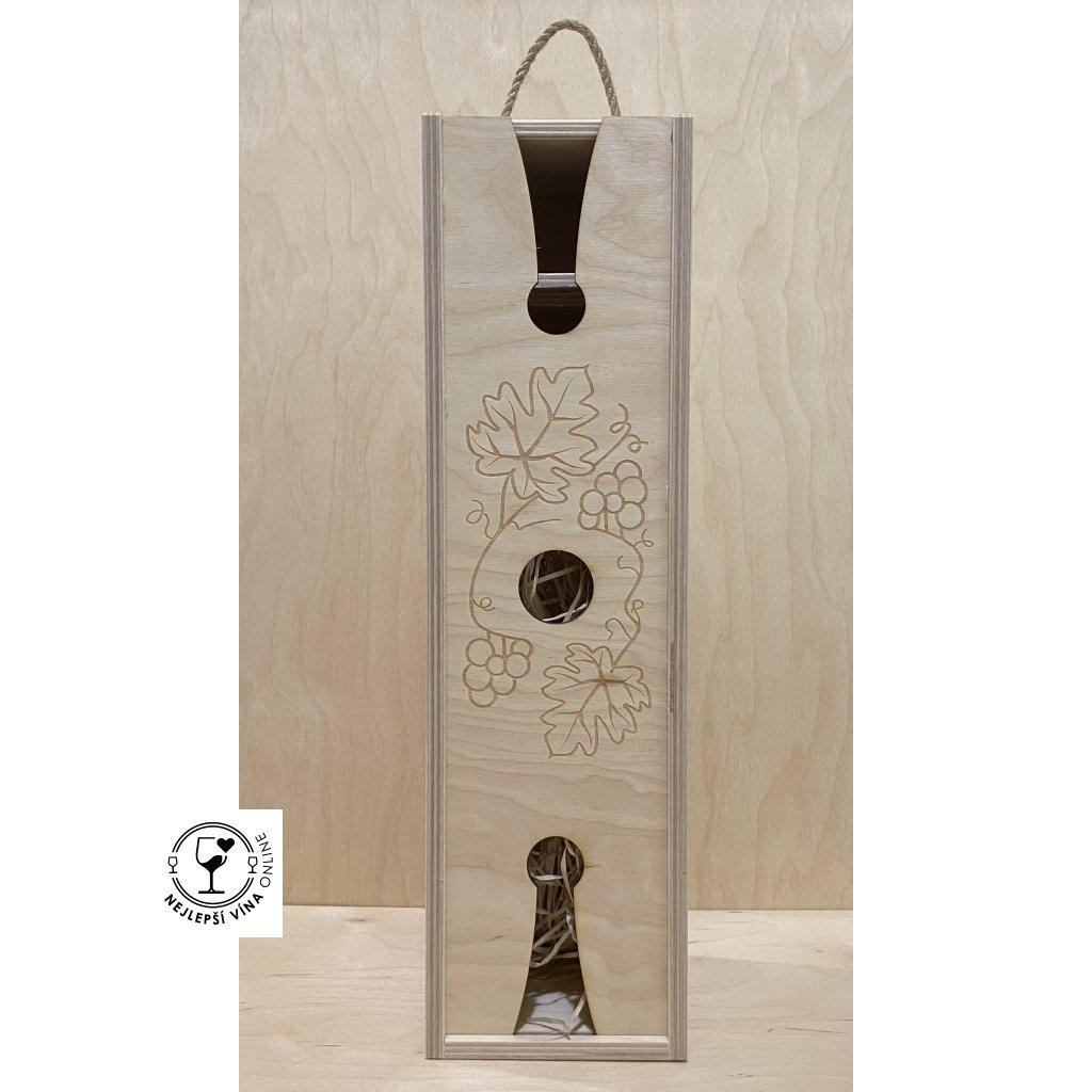 Dřevěná dárková kazeta na víno