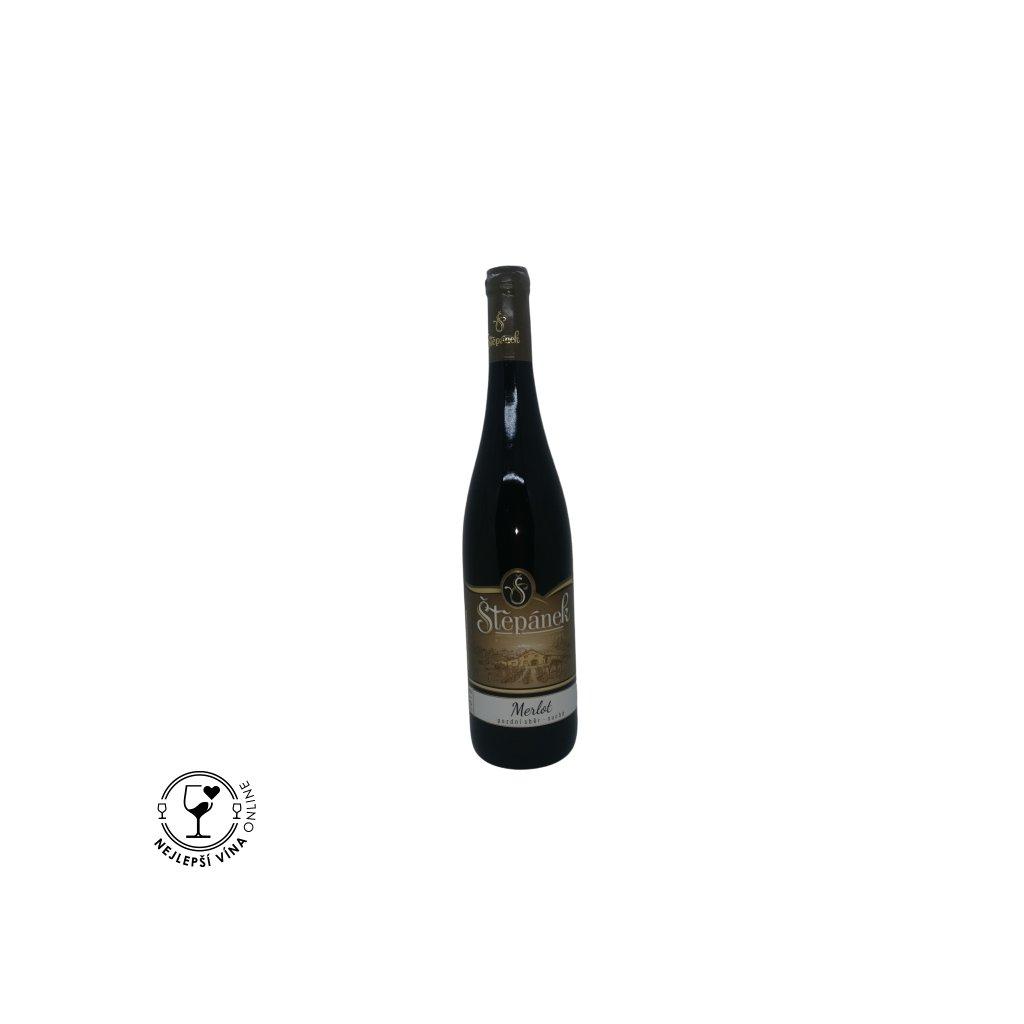 Merlot, pozdní sběr, 2019, suché, 0,75l