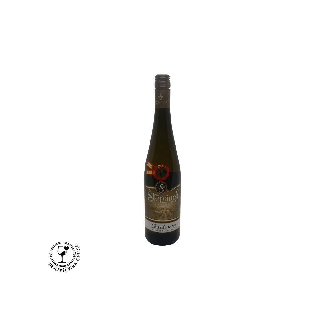 Chardonnay, pozdní sběr, 2020, polosuché, 0,75l