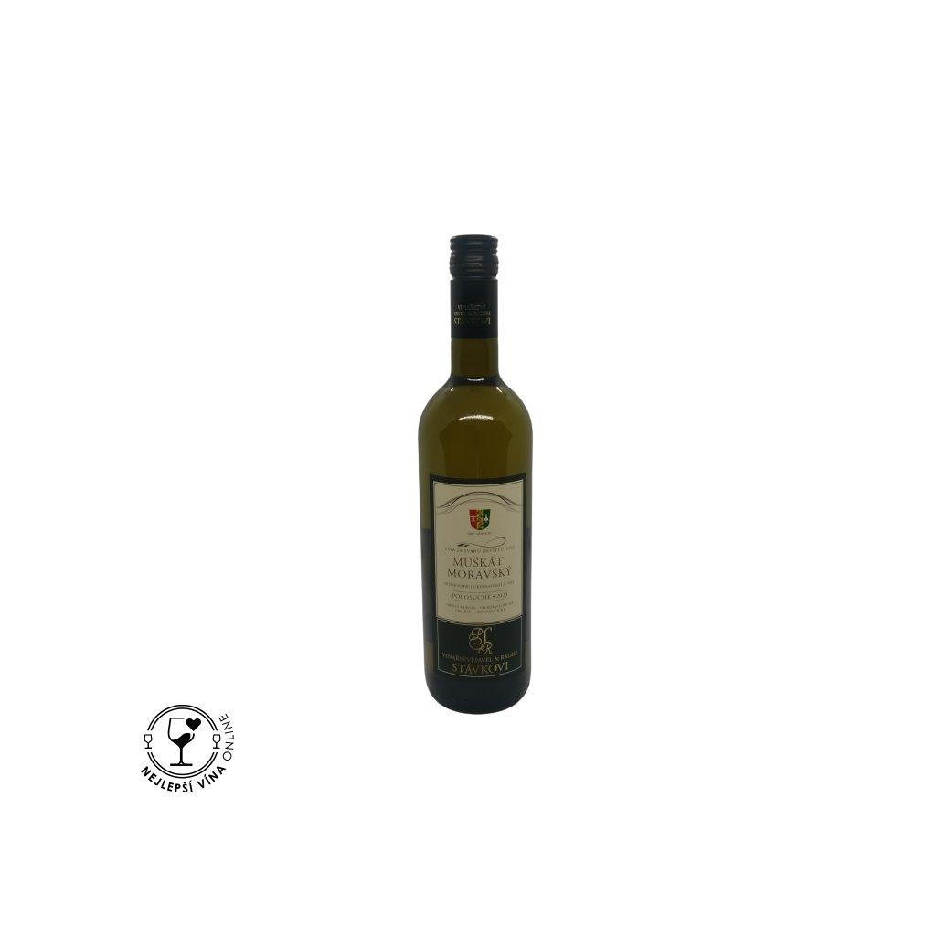 Muškát moravský, moravské zemské víno, 2020, polosuché, 0,75l