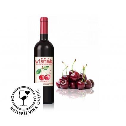Višňák, ovocné polosladké víno, 0,75l