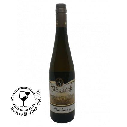 Chardonnay, moravské zemské, 2018, polosladké, 0,75l